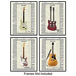 guitars unframed wall prints