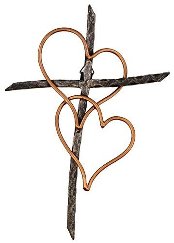 hearts decorative wall cross