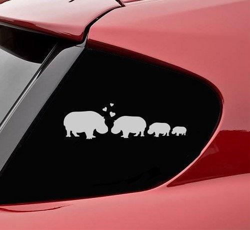 hippopotamus family vindyl decal
