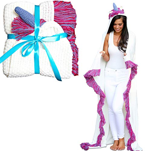 hooded unicorn blanket