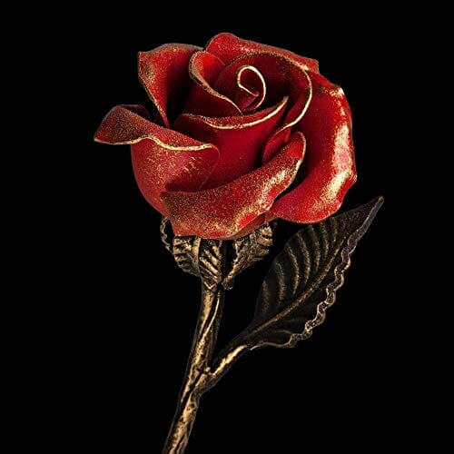 Handmade Red Steel Rose