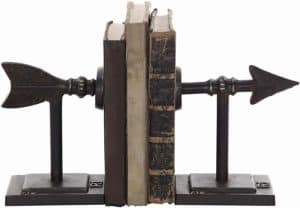 iron metal arrow bookends