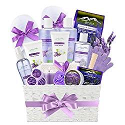 jasmine lavender bath gift baskeet