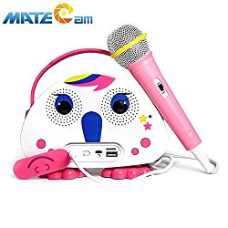 karaoke machine with microphone