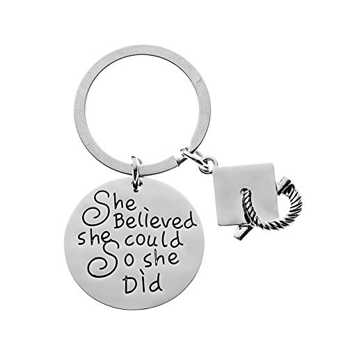 Infinity Collection Graduation Keychain for Girls She Believed She Could So She Did Graduation Gift Class of 2019 Edition for Graduates