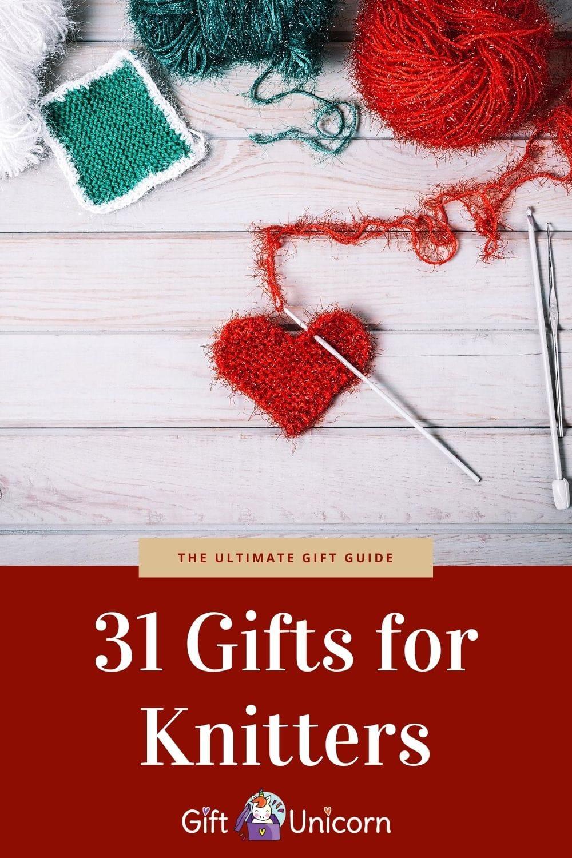 31 knitting presents pin image