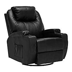leather heated massage rocker recline