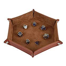 leather velvet dice tray