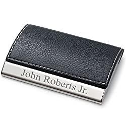 leatherette card case
