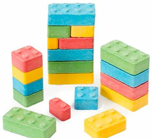 lego shaped sweets