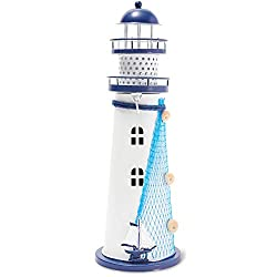 lighthouse decor with candle holder