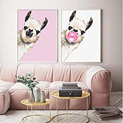 llama bubble pop wall art