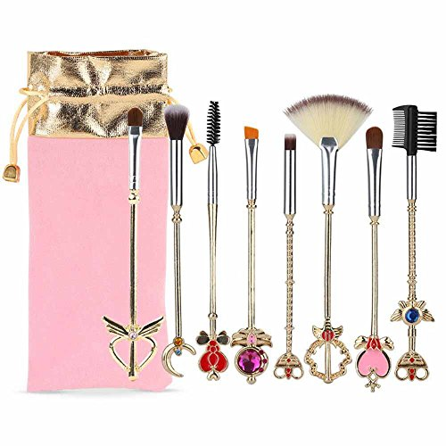 makeup brush set whit pouch