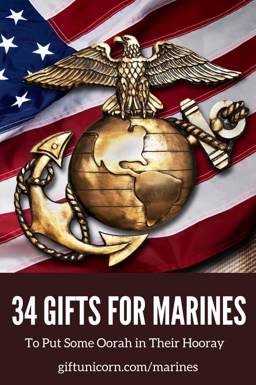 31 marines presents pin image