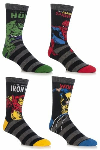 marvel superheroes socks