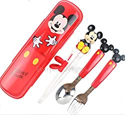 mickey flatware tableware cutlery