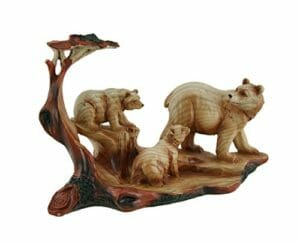 mother's birthday gift bear and cub statue