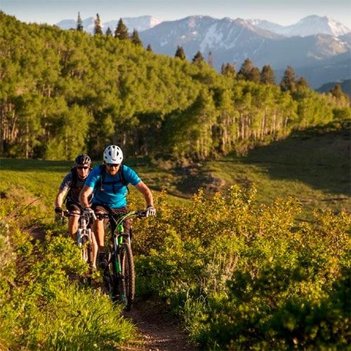mountain biking singletrack ride