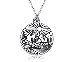 mountain life necklace