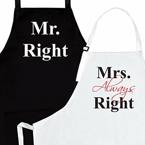 mr and mrs chic cooking aprons