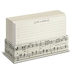 musical flat notes card holder