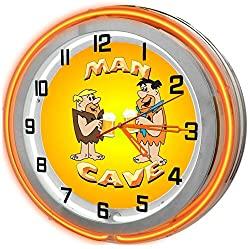 neon garage clock