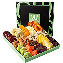 nuts and dried fruits gift basket