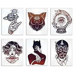 occult tattoo wall art pack
