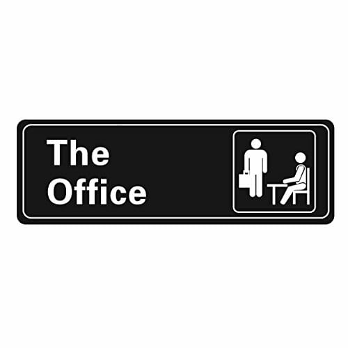 office self adhesive sign