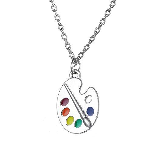 paint palette necklace