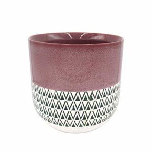 patterned planter pot