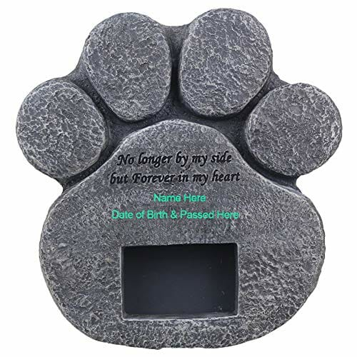 personalized memorial stone for a pet grave