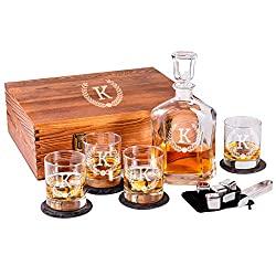 personalized whiskey set
