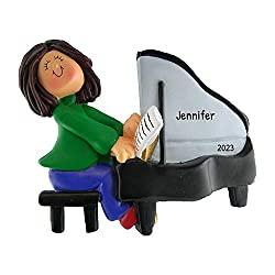 pianist ornament figurine
