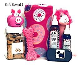 pink dog gift set