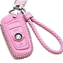 pink leather key case cover