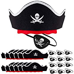 pirate hat´s eye patches set