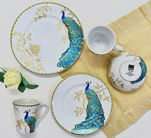porcelain bird plates