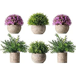 potted artificial plant fake green set