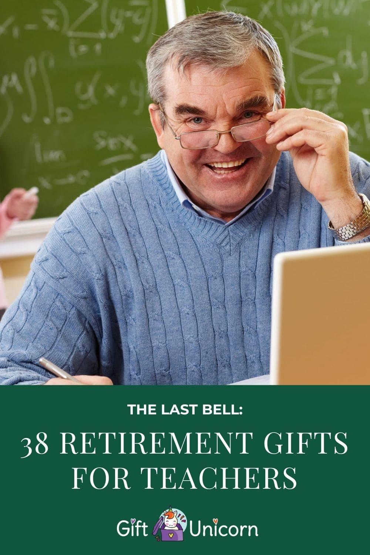 retirement presents for teachers pin image