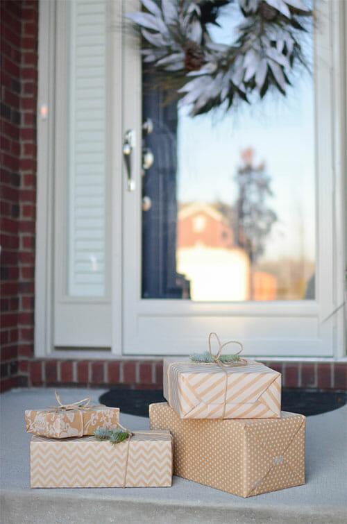 deveral presents under a window