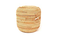 rattan bowl with straps