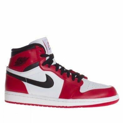 red color jordan shoes