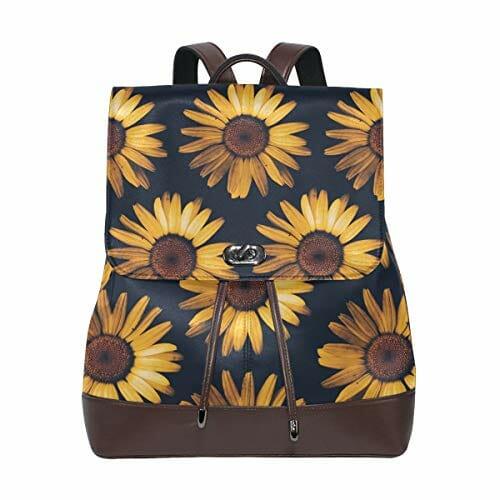 retro sunflower pattern backpack