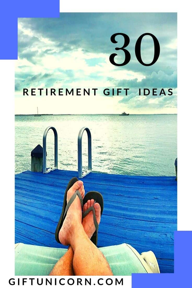 30 Retirement Gift Ideas to Kickoff Their New Life - pinterest pin image