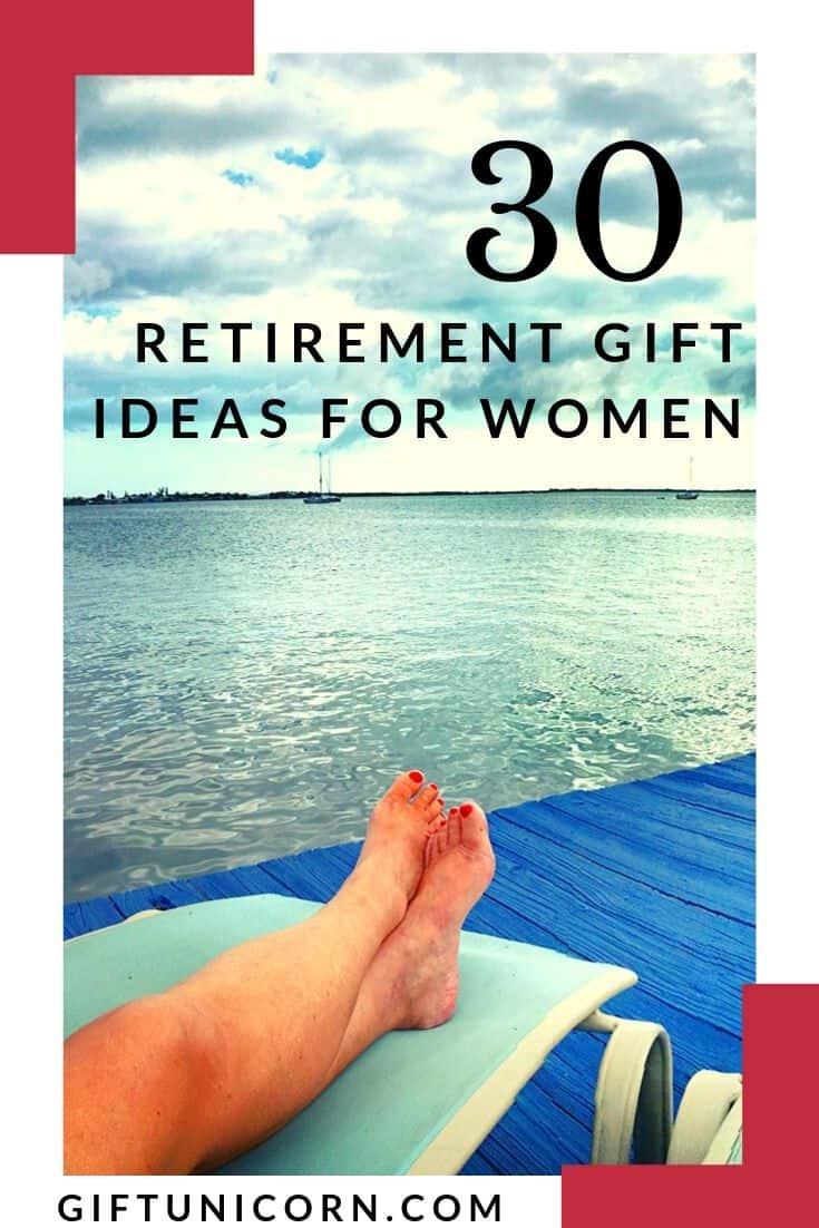 30 Retirement Gift Ideas For Women - pinterest pin image