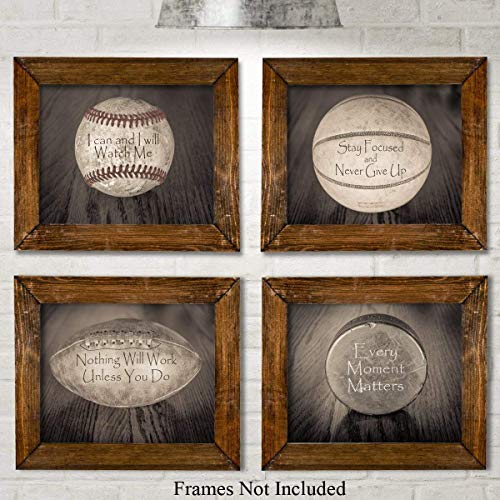 room decor quotes with sports balls