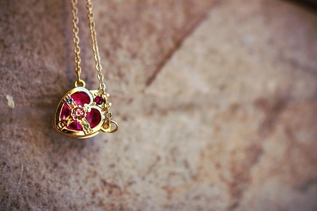 sailor moon heart necklace