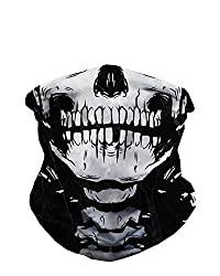 skeleton face mask bandana