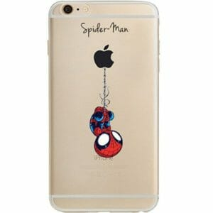 Gift iphone case with a spiderman character on it
